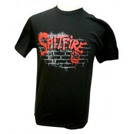 T-shirt Spitfire noir et rouge