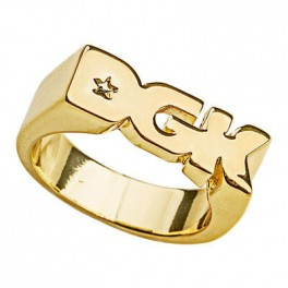 DGK logo ring gold