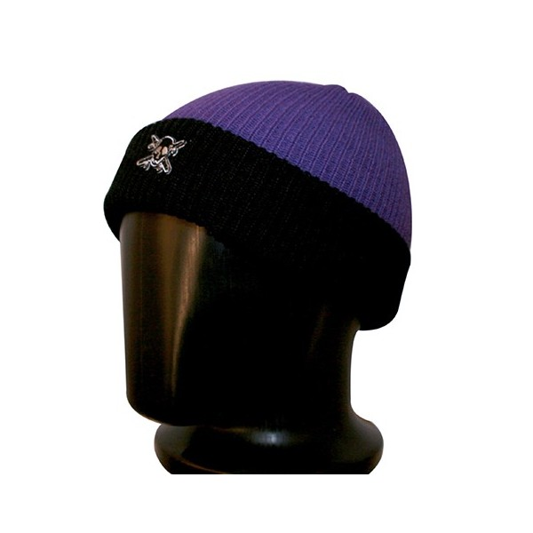 bonnet fourstar violet et noir 100 acrylique. Black Bedroom Furniture Sets. Home Design Ideas