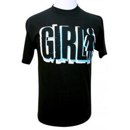 T-shirt Girl Company noir et bleu