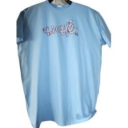 T-shirt cliche Bleu