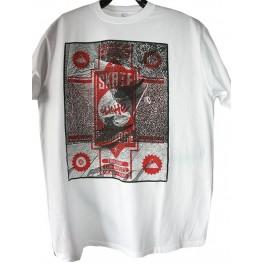 T-shirt cliche blanc et rouge
