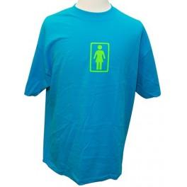 T-shirt bleu Girl Skateboard Company